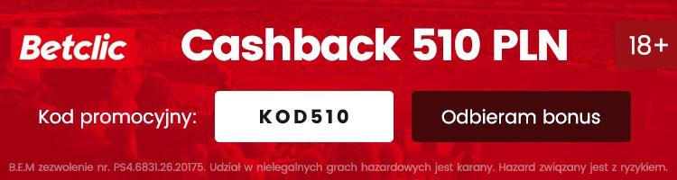 betclic nowy bonus powitalny cashback